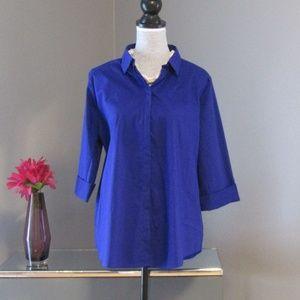 NEW Worthington Verve Violet 3/4 Sleeve Blouse XL
